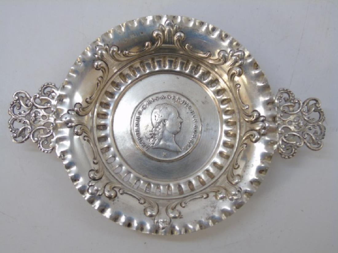 Two Russian / German Coin Mounted Silver Items - 8