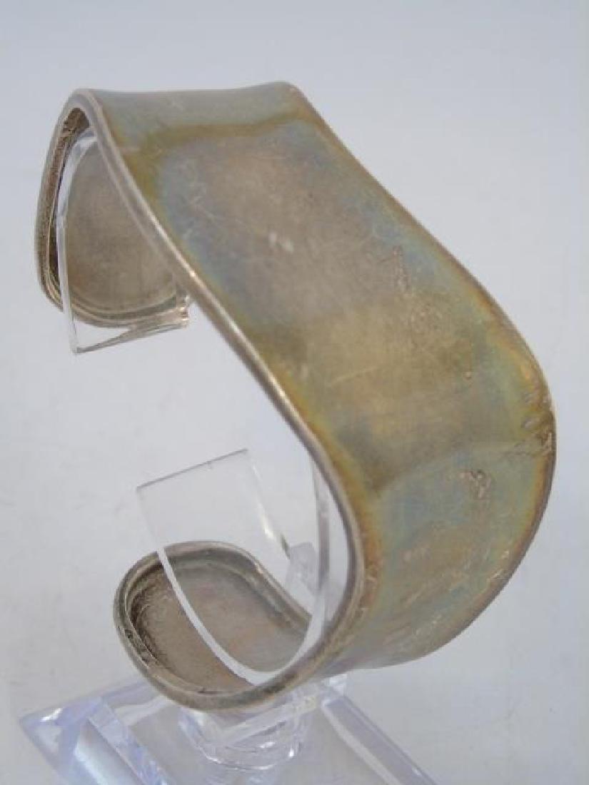 Sterling Silver Wave-Style Cuff Bracelet