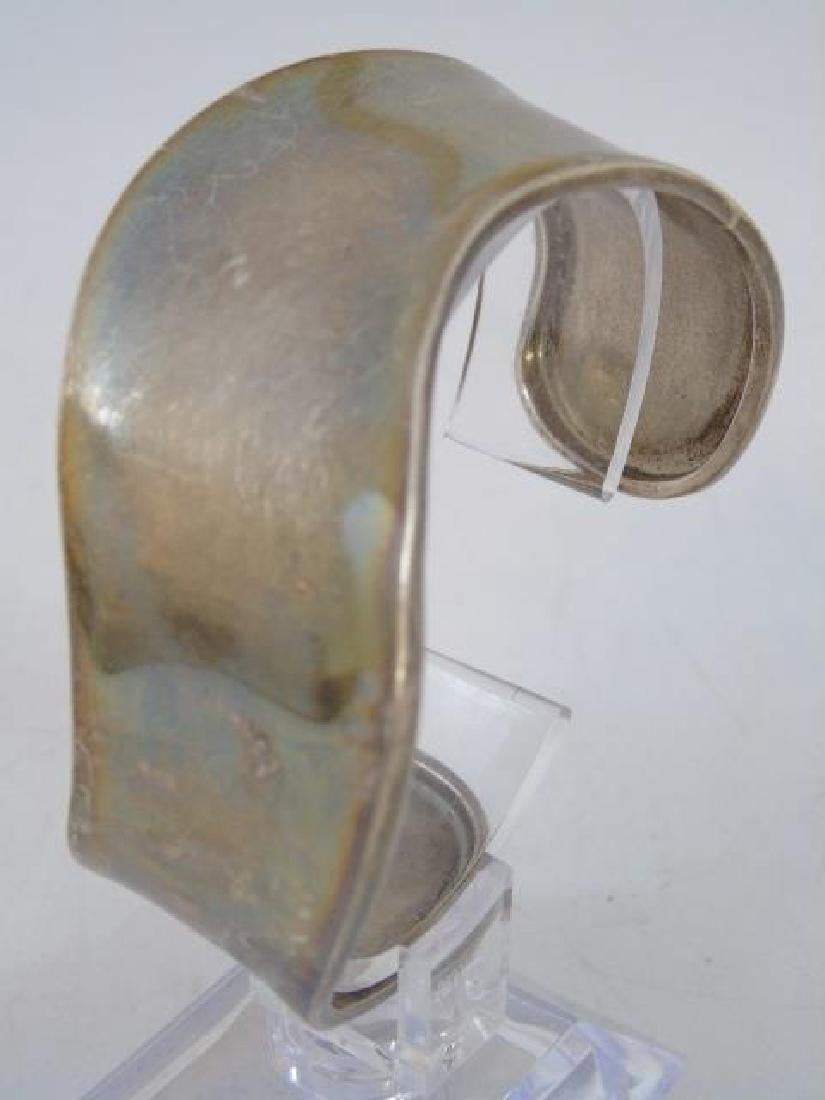 Sterling Silver Wave-Style Cuff Bracelet - 3