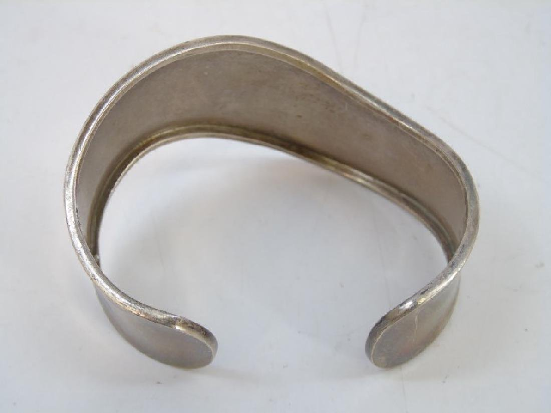 Sterling Silver Wave-Style Cuff Bracelet - 4