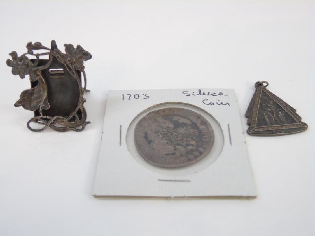 Group of Three Continental Silver Items