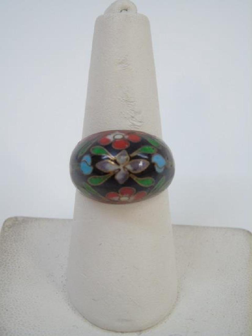 Jewelry Items - Cloisonne Ring & Jade Pendant - 4