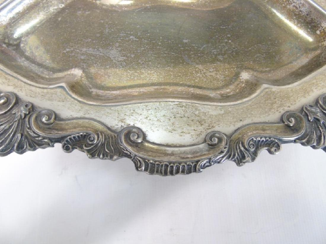 Large Silverplate Sectioned Rotating Serving Dish - 5