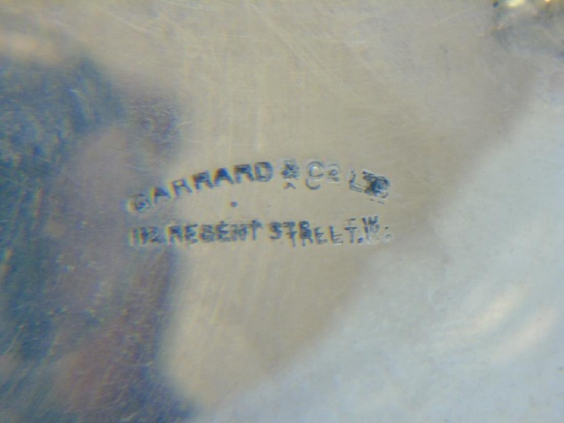 Footed English Sterling Salt Shaker -Garrard & Co. - 2