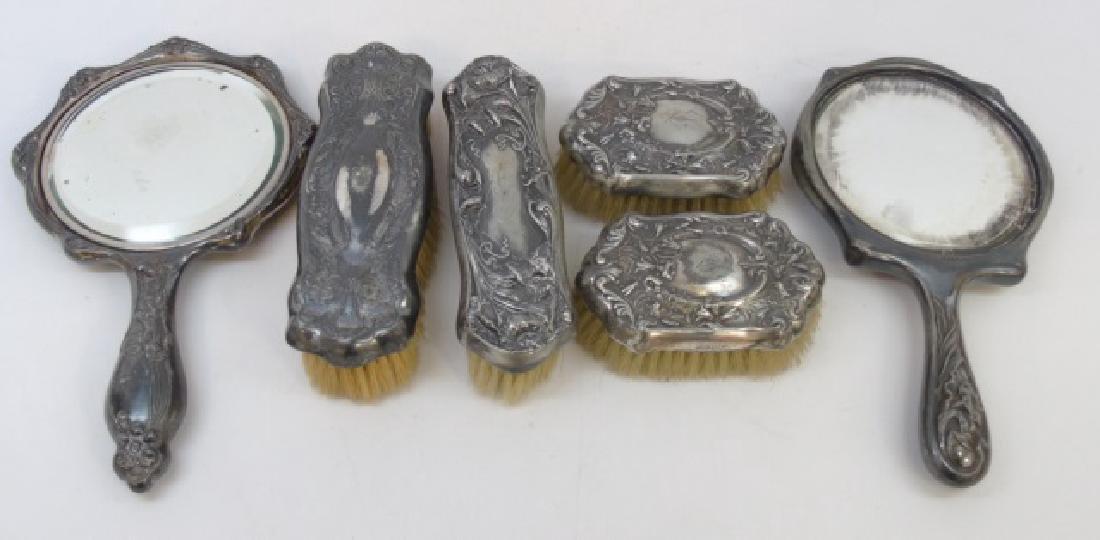 Silver Plate Victorian / Art Nouveau Vanity Items
