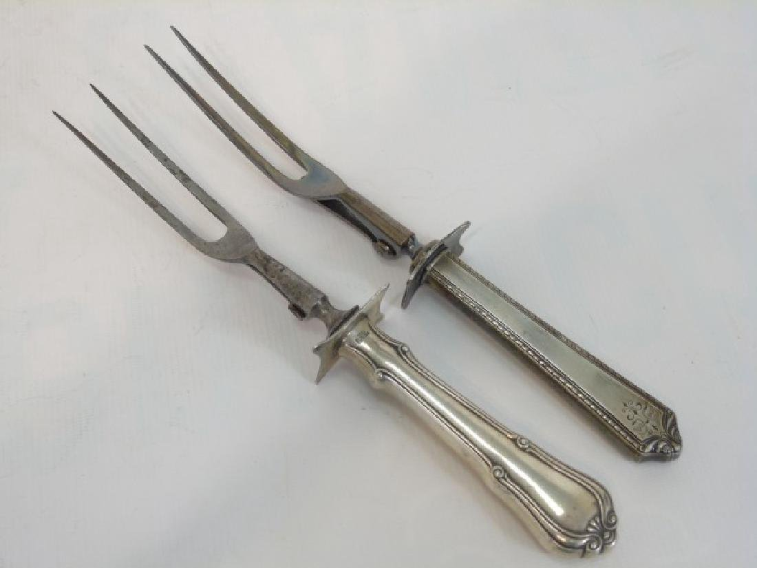 Six Piece Antique Sterling & Silver Carving Set - 4
