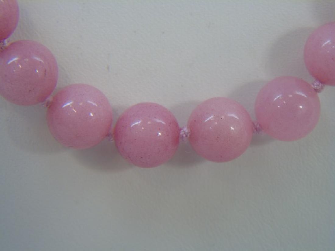 Four Pink Jade & Hardstone Necklace Strands - 2