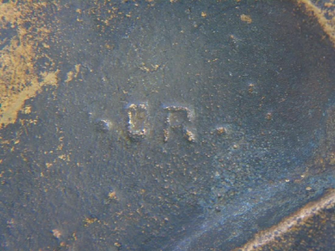 Antique Oval Grand Tour Bronze Plaque of Dante - 2