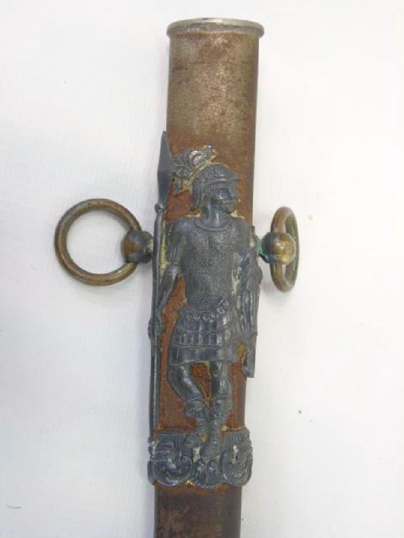 Antique Masonic Knight in Armor Motif Sword - 5