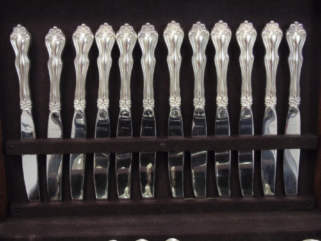 Sterling Silver Service for 12 w Many Serving Item - 4