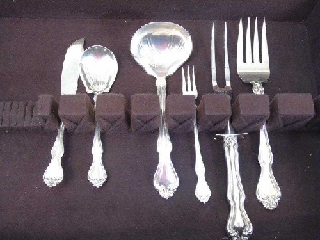 Sterling Silver Service for 12 w Many Serving Item - 5