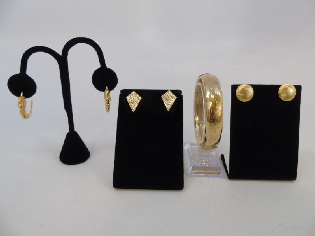 Estate Jewely Lot - Gold Filled Bracelet & Earring