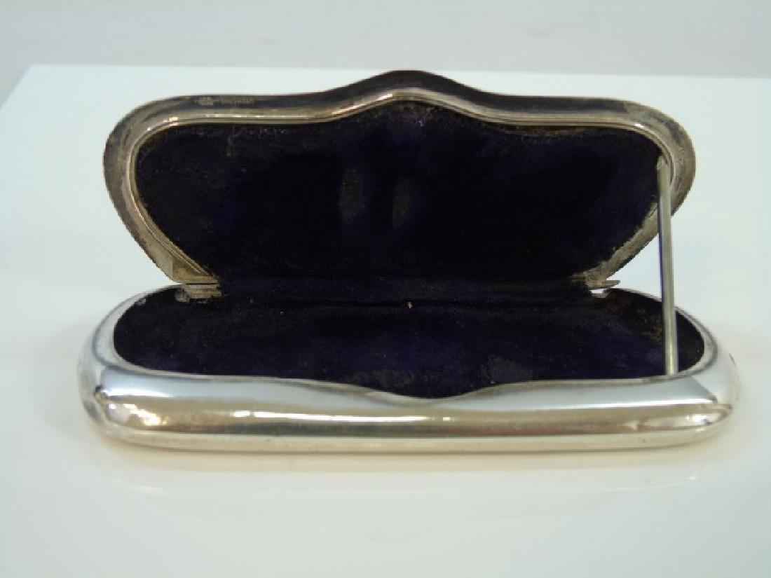 Antique Sterling Silver Velvet Lined Glasses Case - 4