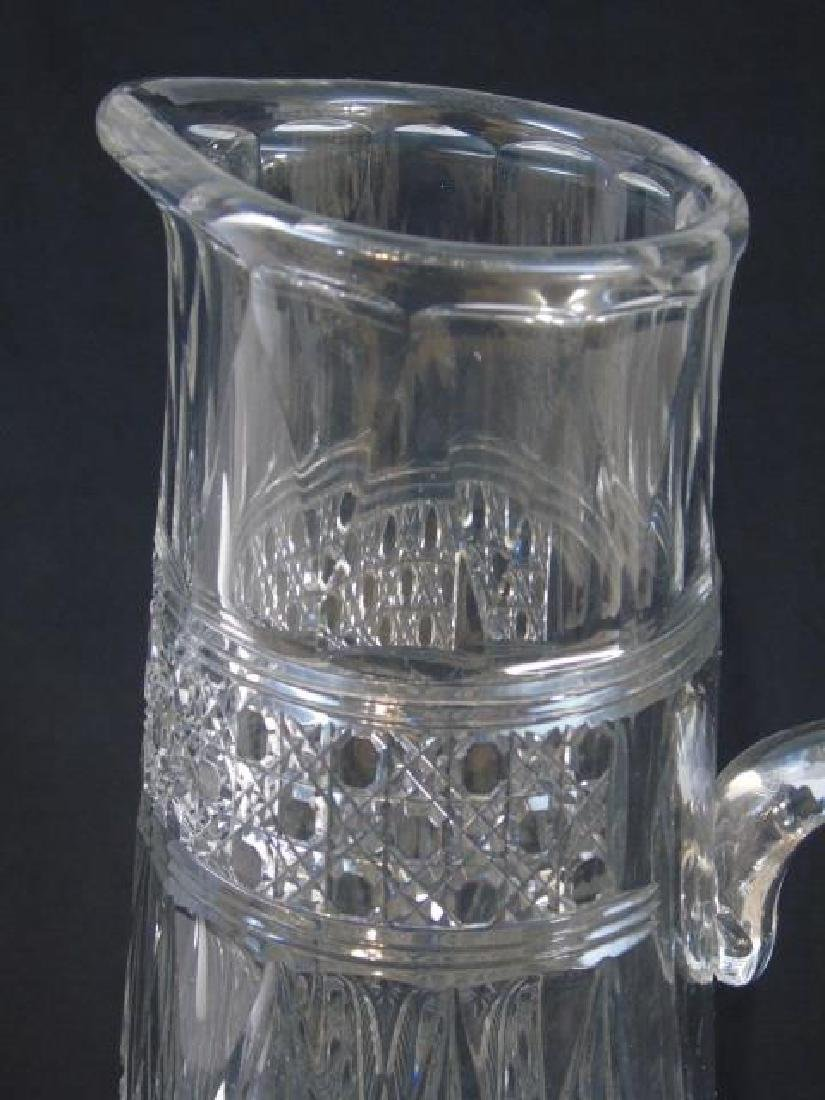 French Baccarat Decanter & Large Balustrade Vase - 2