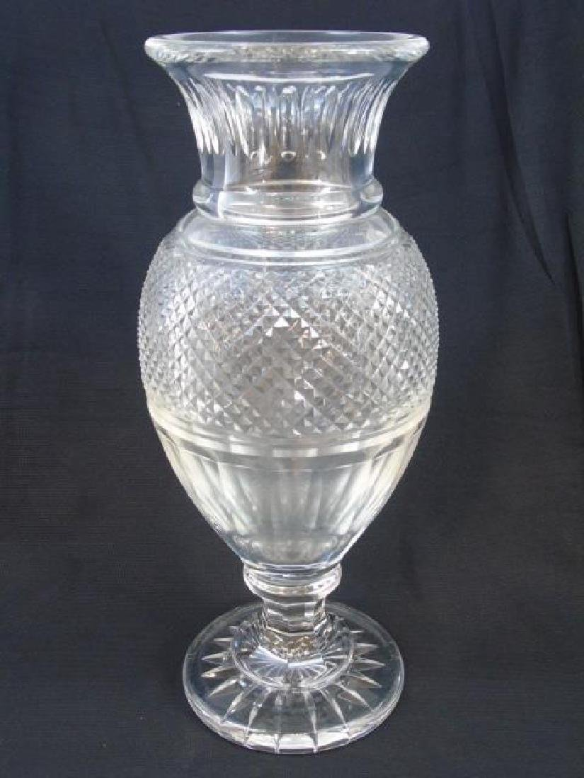 French Baccarat Decanter & Large Balustrade Vase - 5
