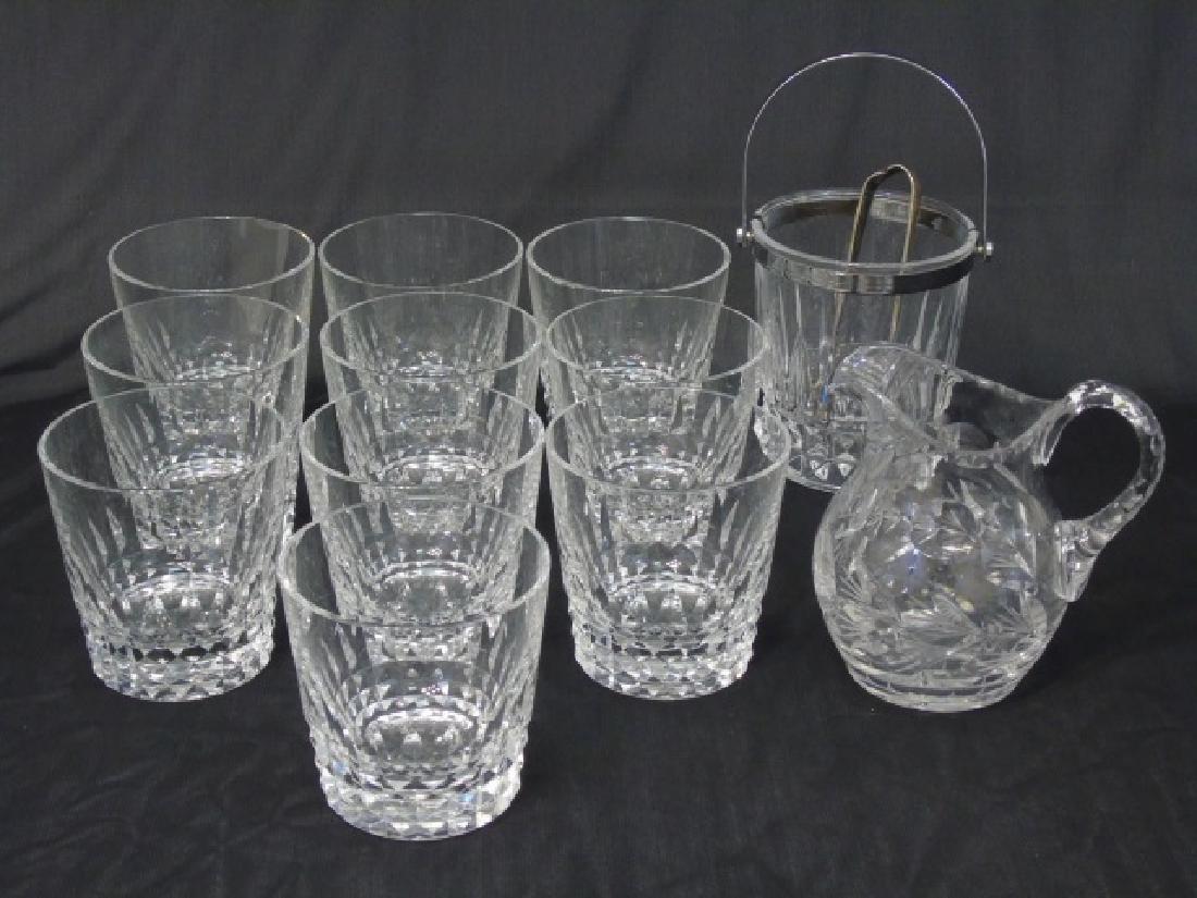 Baccarat Buckingham Glasses, Ice Bucket & Pitcher