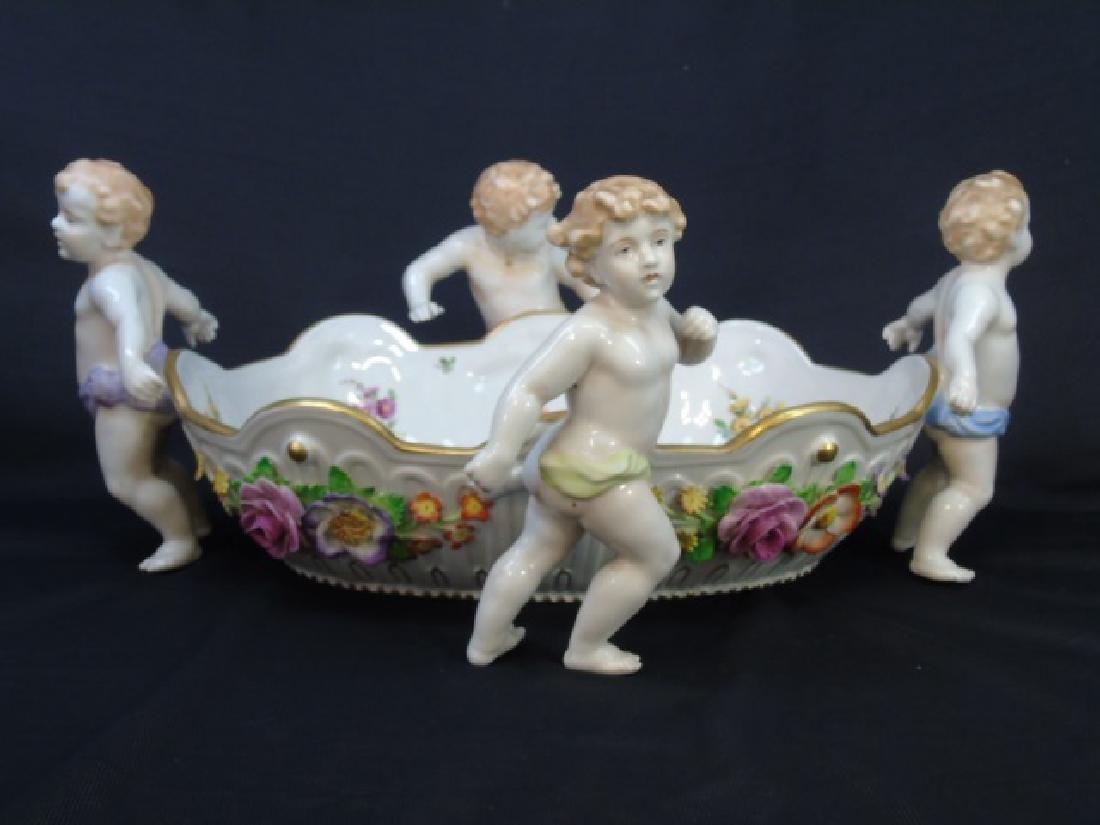 Schierholz Porcelain Detailed Bowl with 4 Cherubs