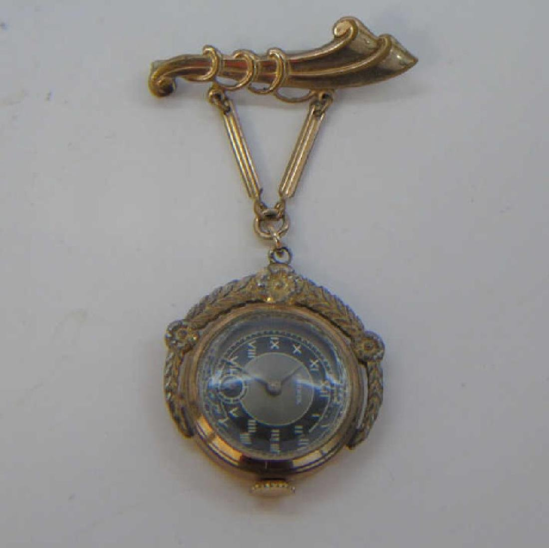 Antique Estate Gold Filled Frenca Brooch Watch