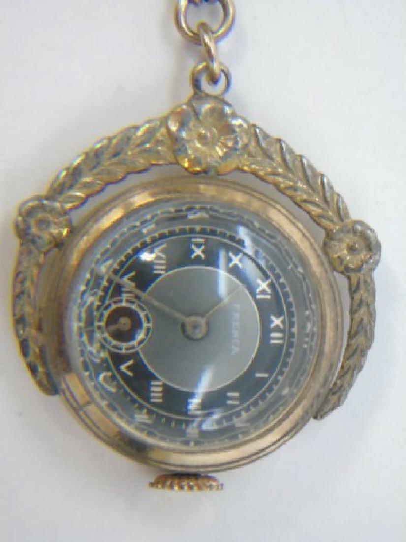 Antique Estate Gold Filled Frenca Brooch Watch - 4