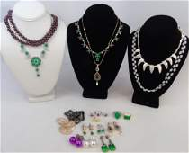 Group Lot of Various Costume Jewelry Pieces