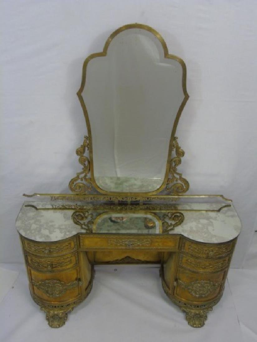 Antique Concord Hotel Gilt Bronze Vanity