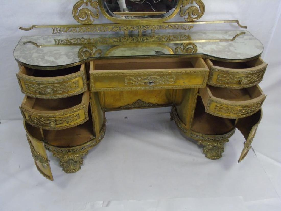 Antique Concord Hotel Gilt Bronze Vanity - 2