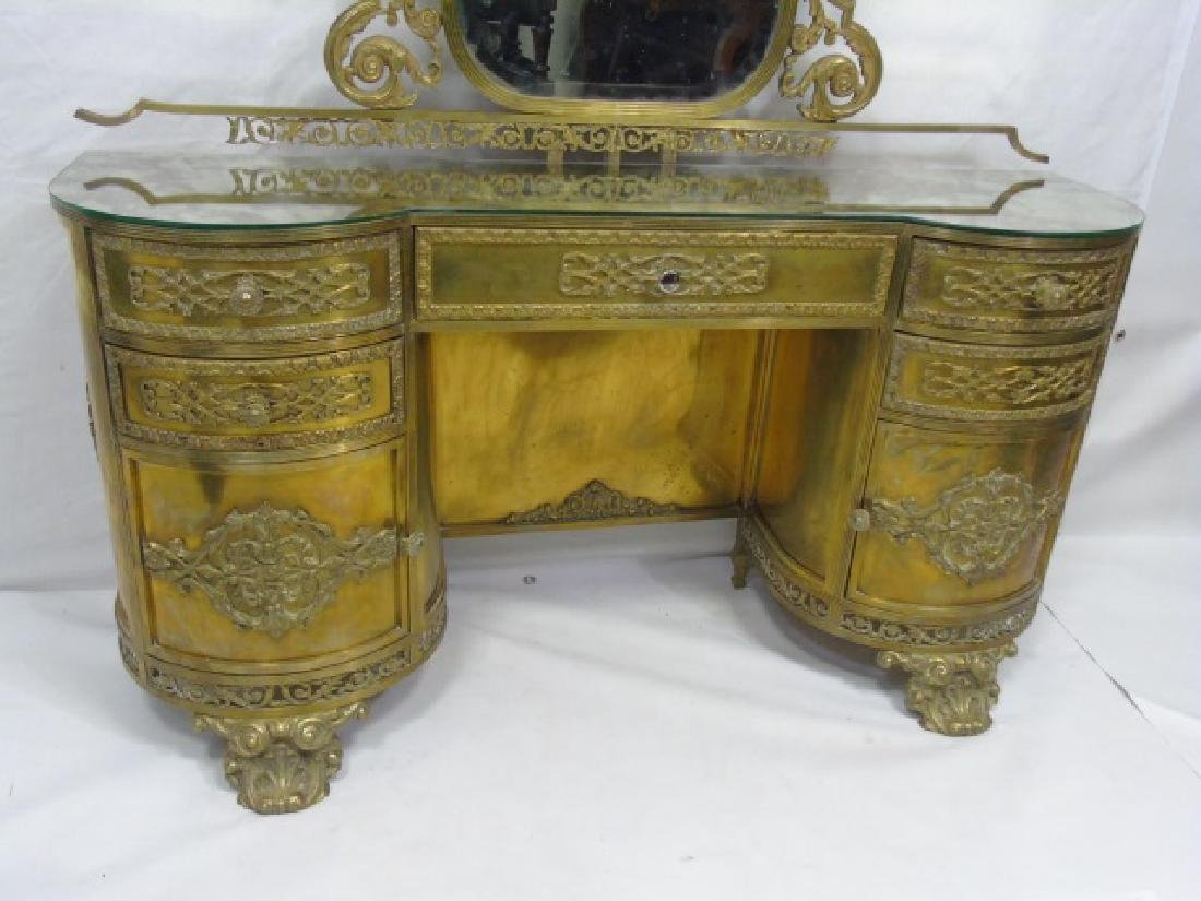 Antique Concord Hotel Gilt Bronze Vanity - 4