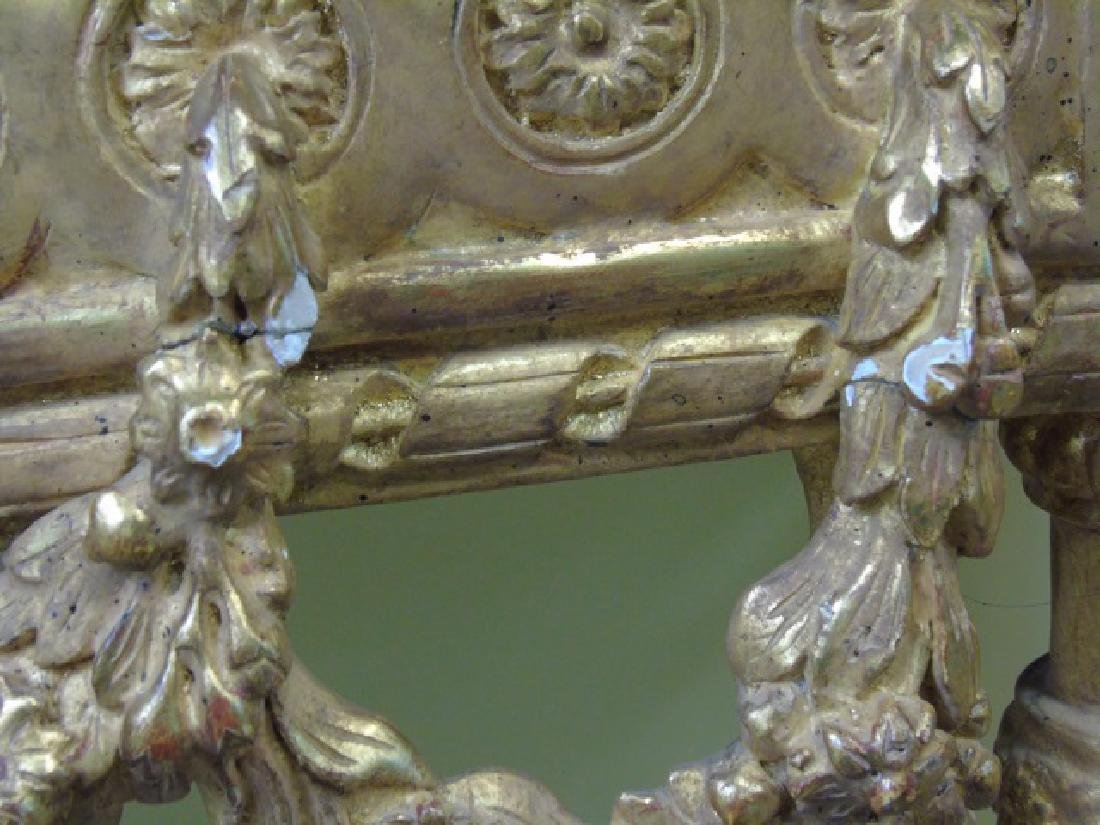 Louis XVI Style French Marble-Top Console Table - 4