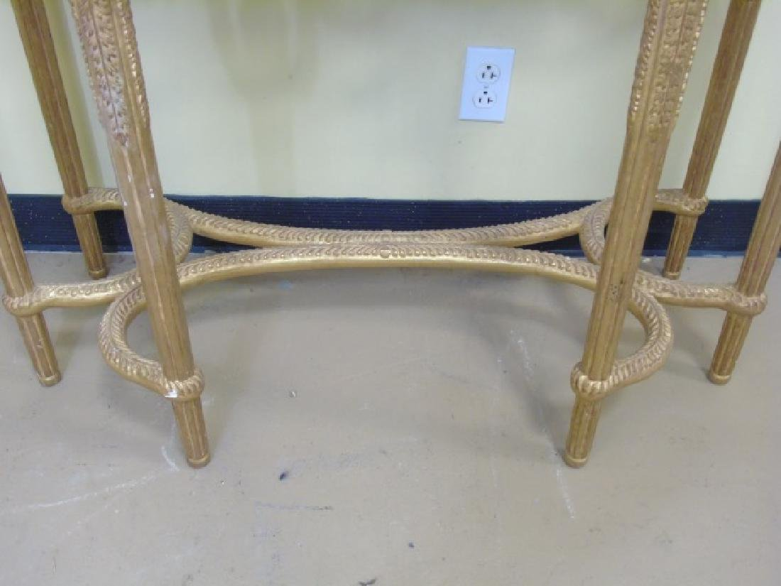 Louis XVI Style French Marble-Top Console Table - 8