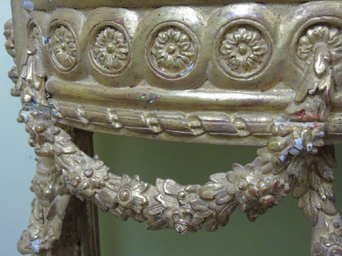Louis XVI Style French Marble-Top Console Table - 9