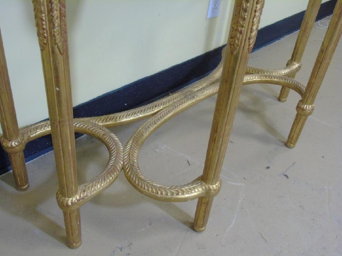 Louis XVI Style French Marble-Top Console Table - 6