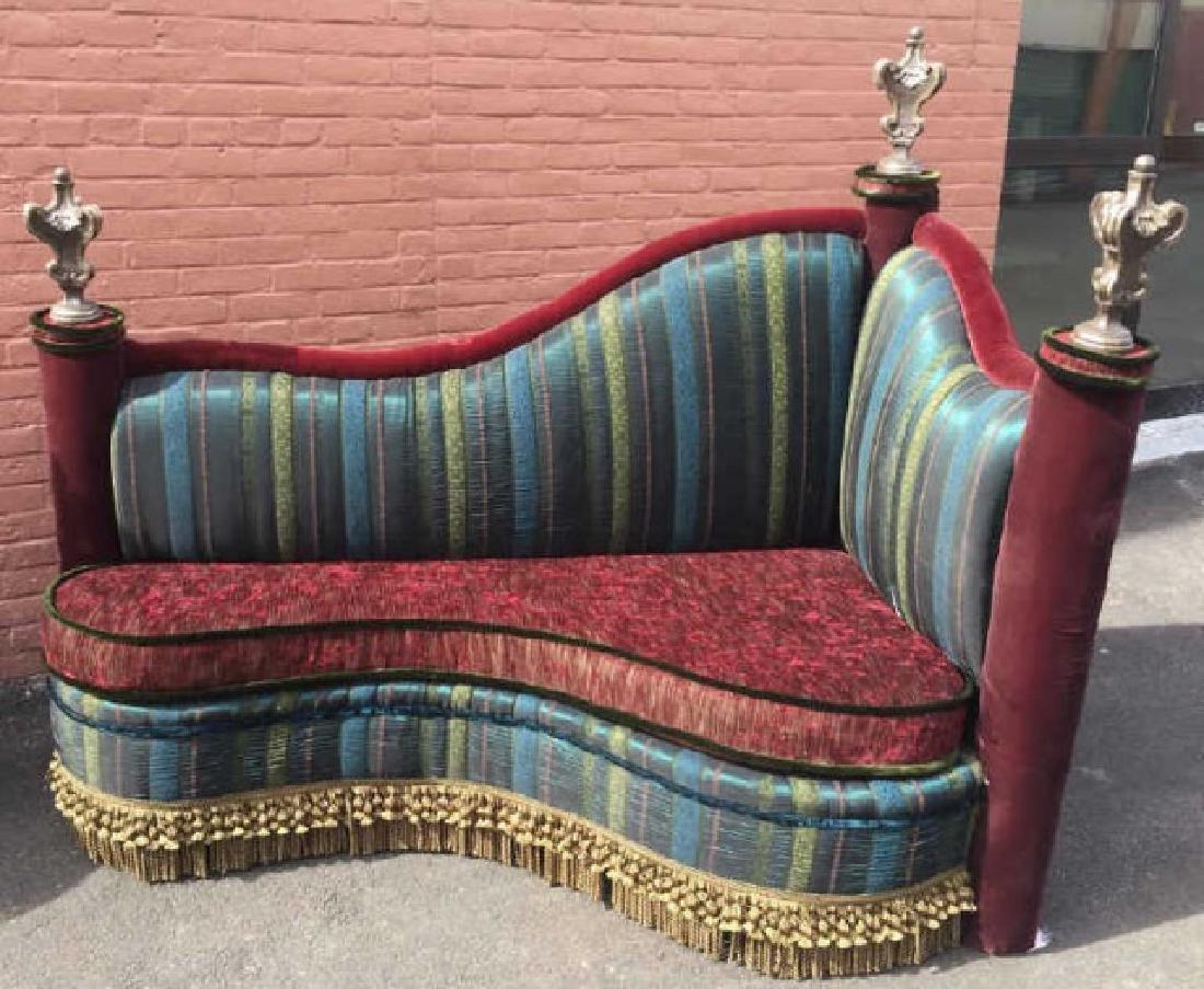 Custom Made Contemporary Art Deco Settee Bench