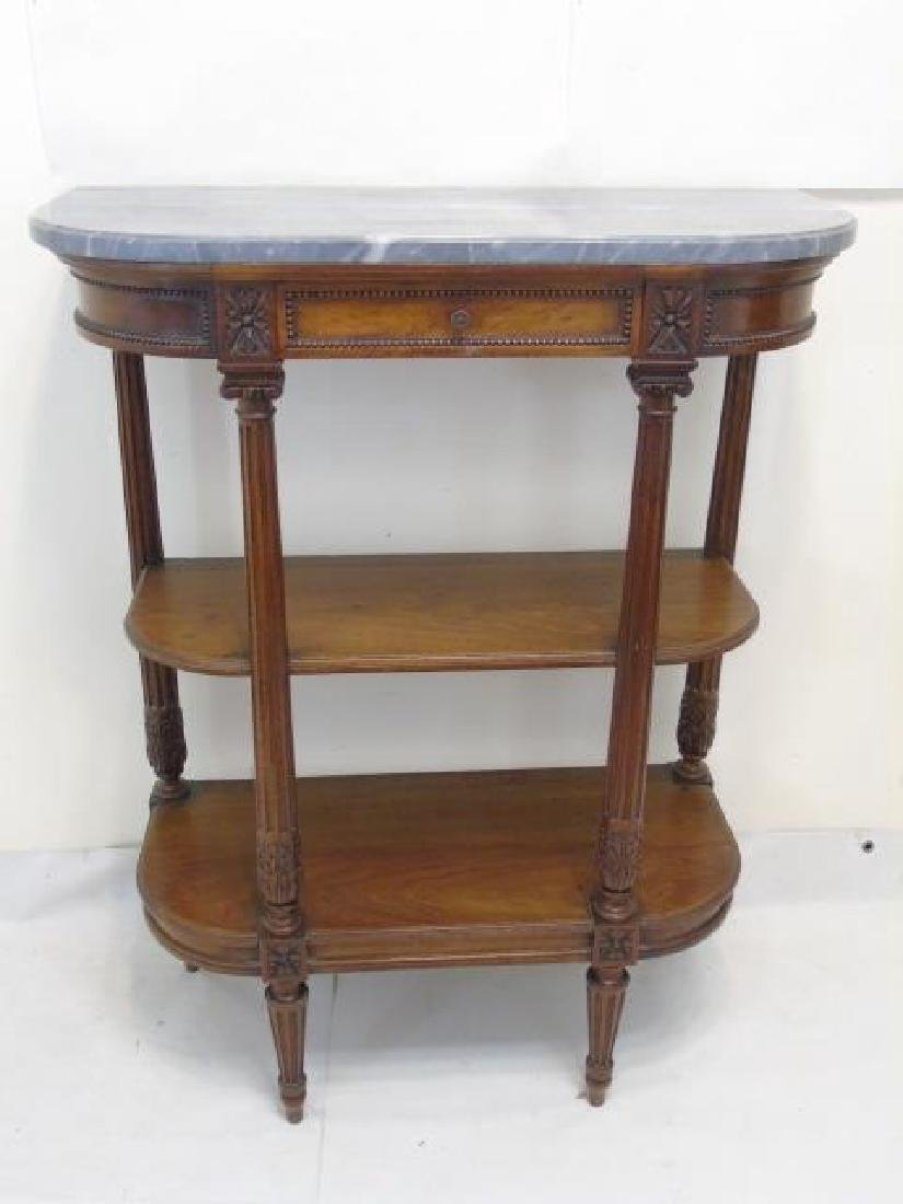 Antique French Louis XVI Style Marble Top Console