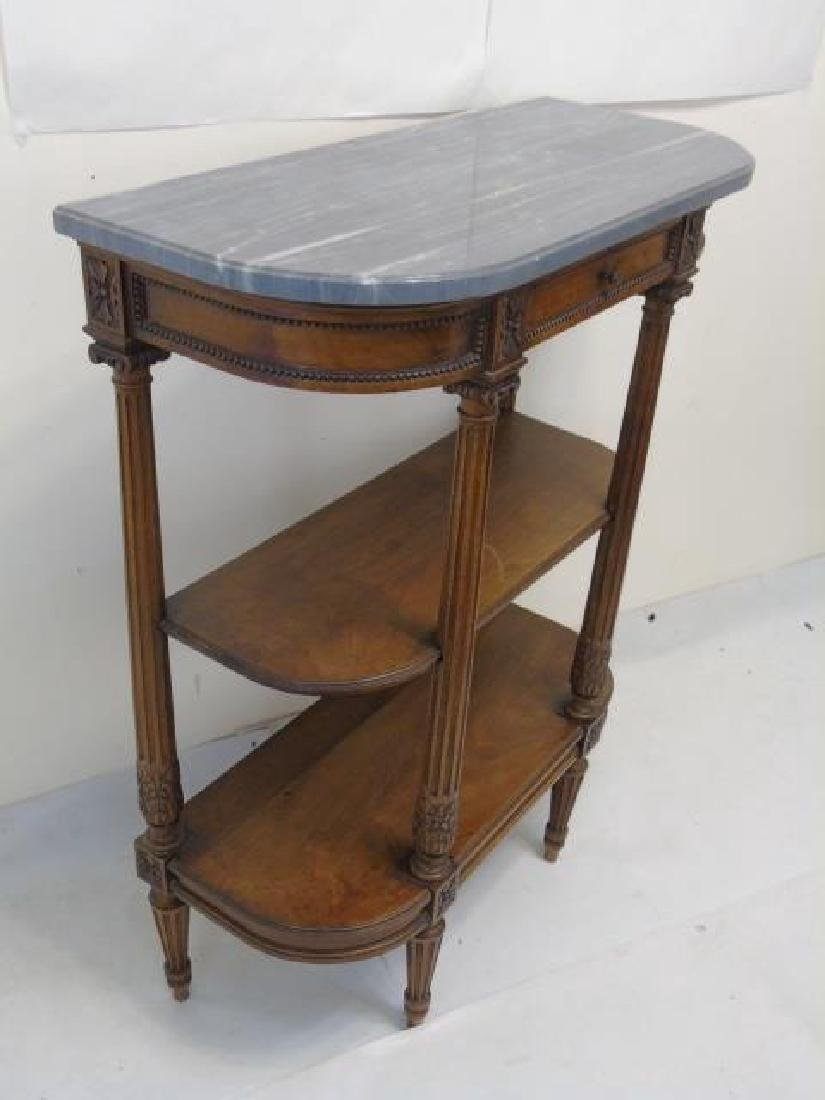 Antique French Louis XVI Style Marble Top Console - 2