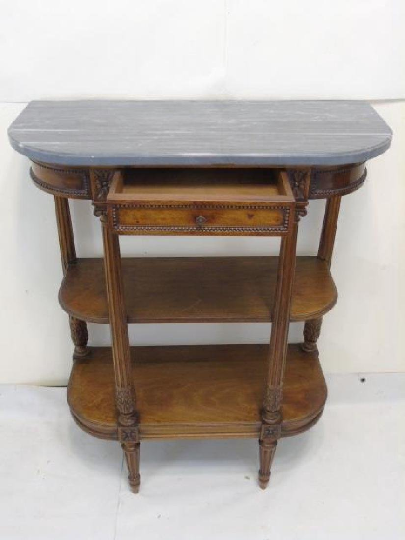 Antique French Louis XVI Style Marble Top Console - 3