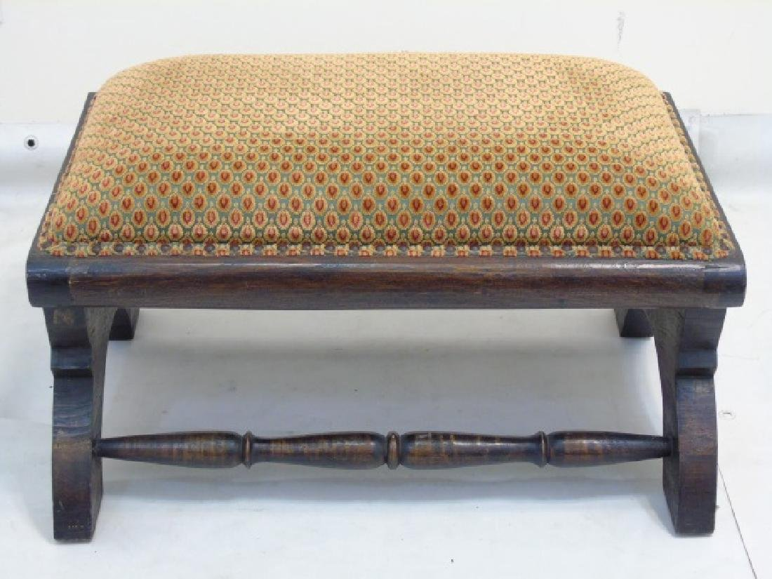 Christopher Hyland Fabric Upholstered Wood Ottoman