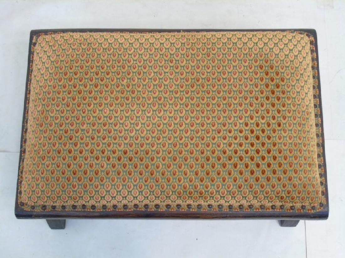 Christopher Hyland Fabric Upholstered Wood Ottoman - 2