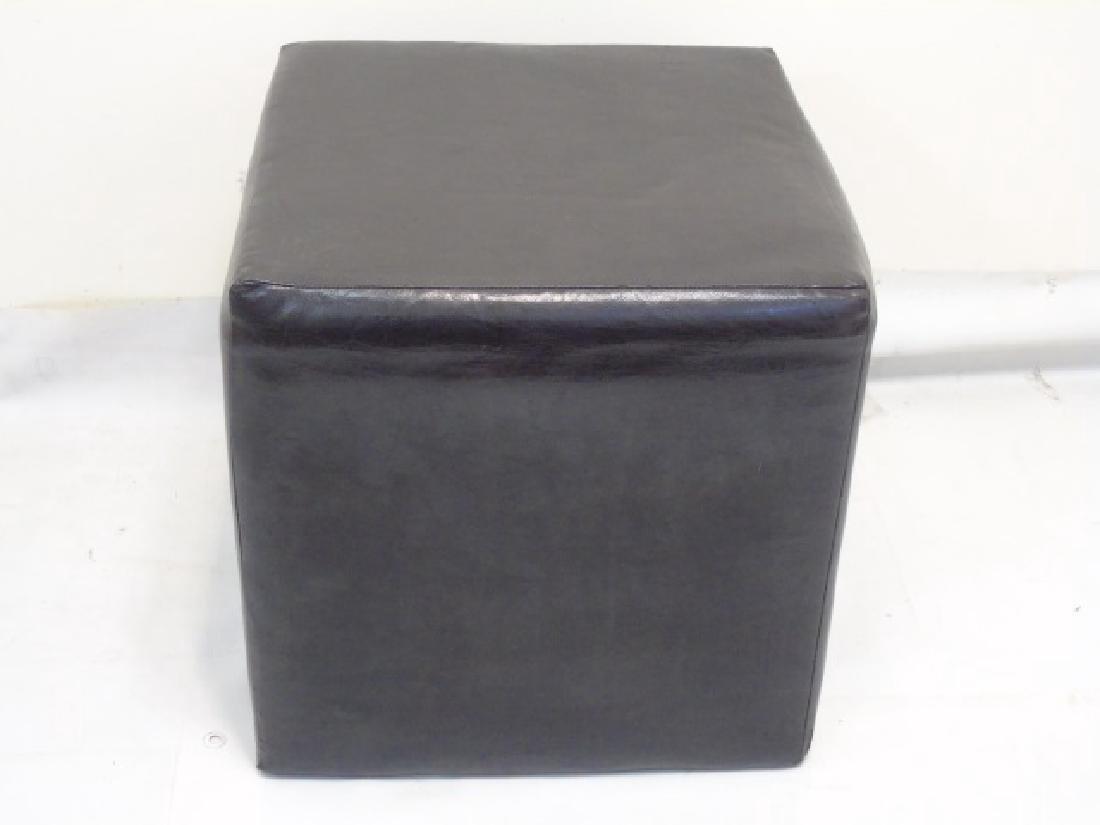 Modern Leather Cube Stool & Mushroom Ottoman - 2