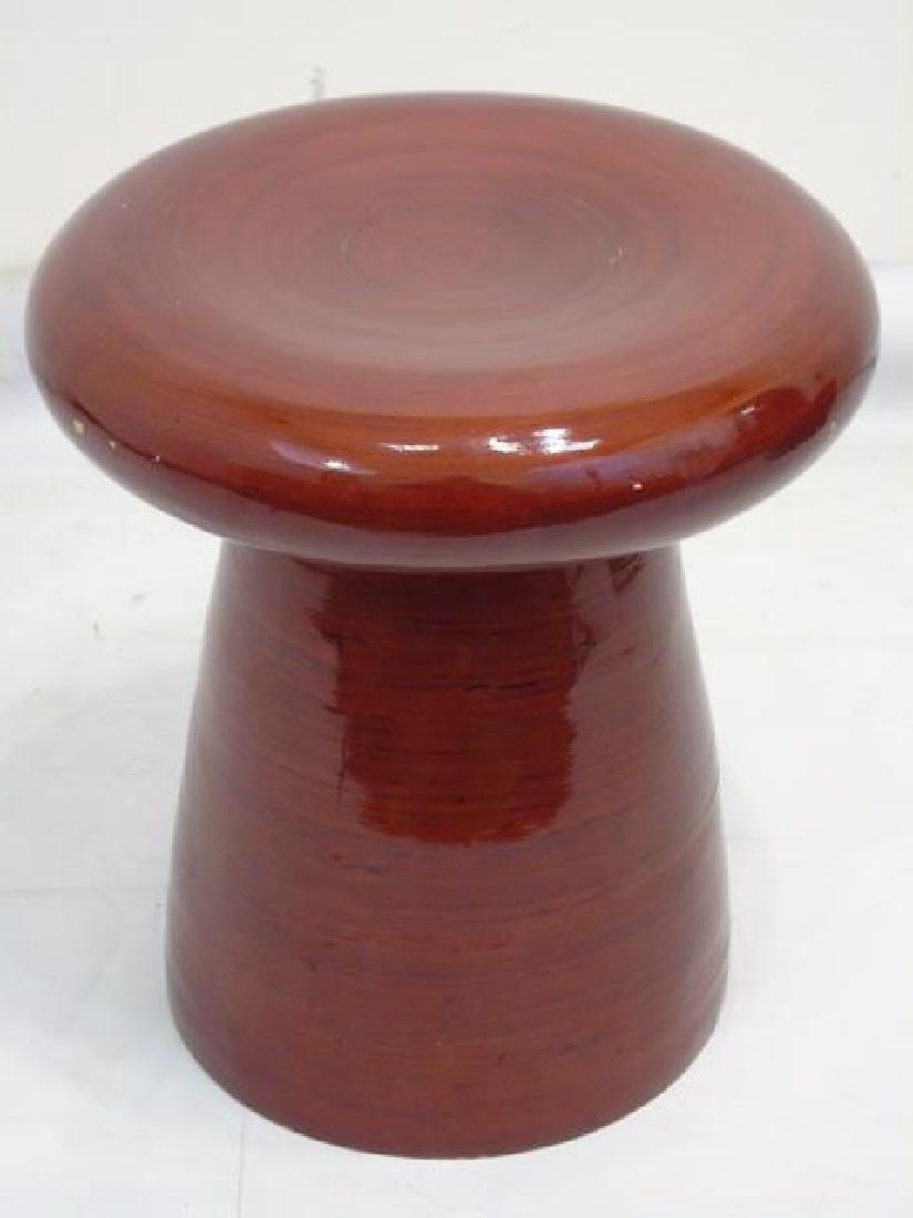 Modern Leather Cube Stool & Mushroom Ottoman - 5