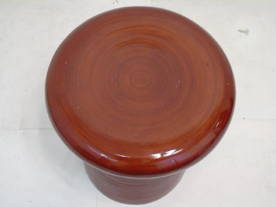 Modern Leather Cube Stool & Mushroom Ottoman - 6