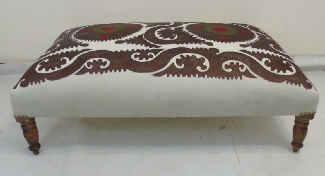 Large Custom Contemporary Upholstered Ottoman