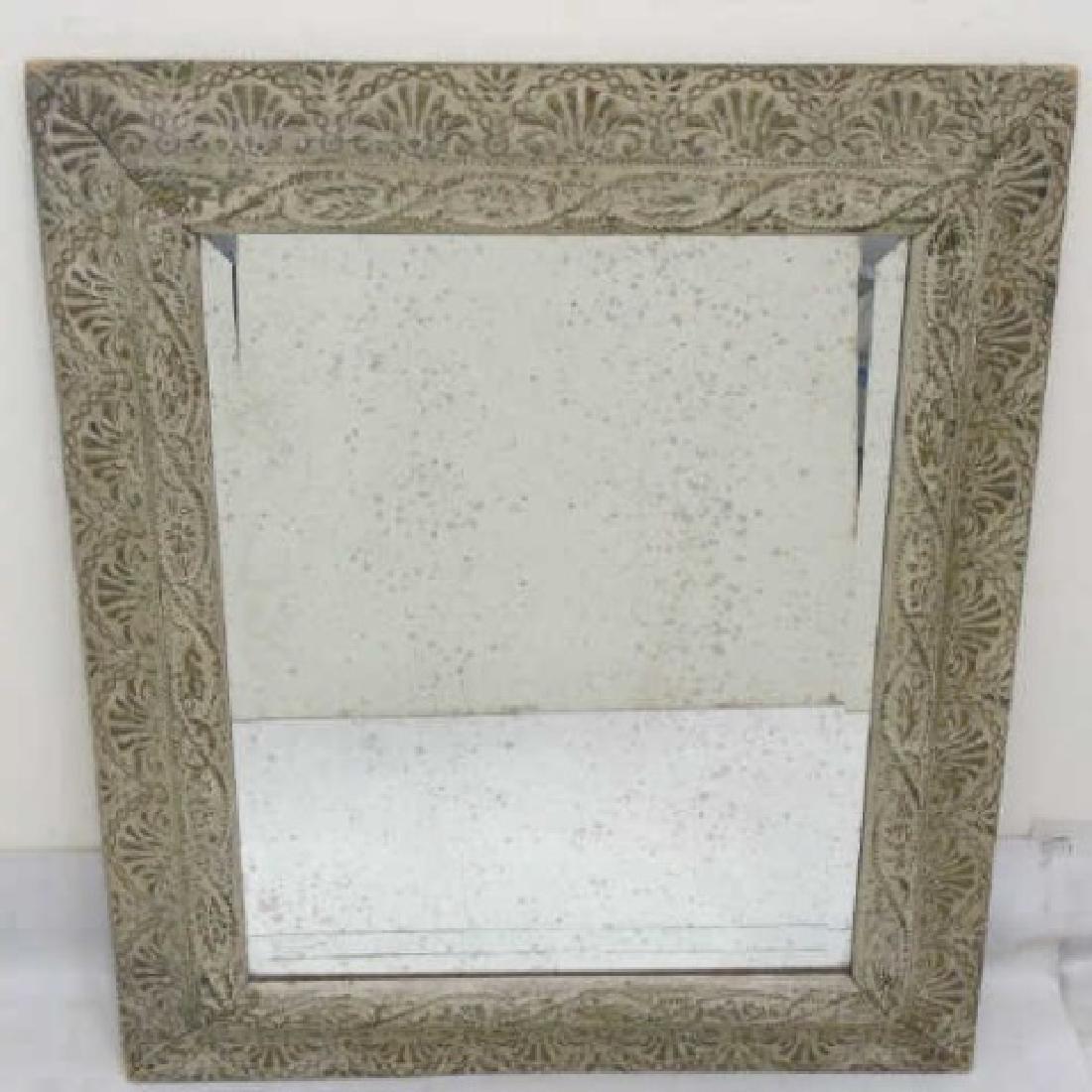 Antique Style Framed Rectangular Mirror
