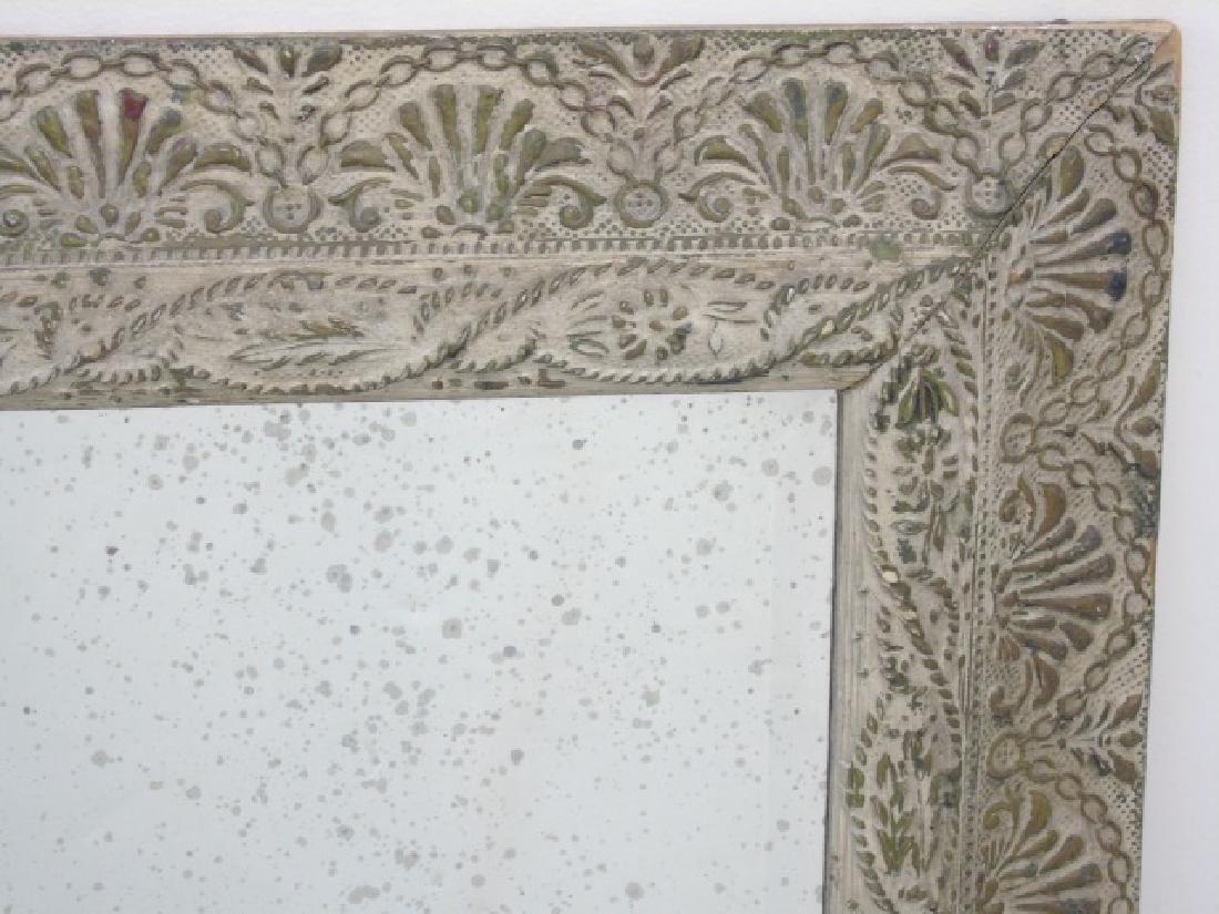 Antique Style Framed Rectangular Mirror - 2