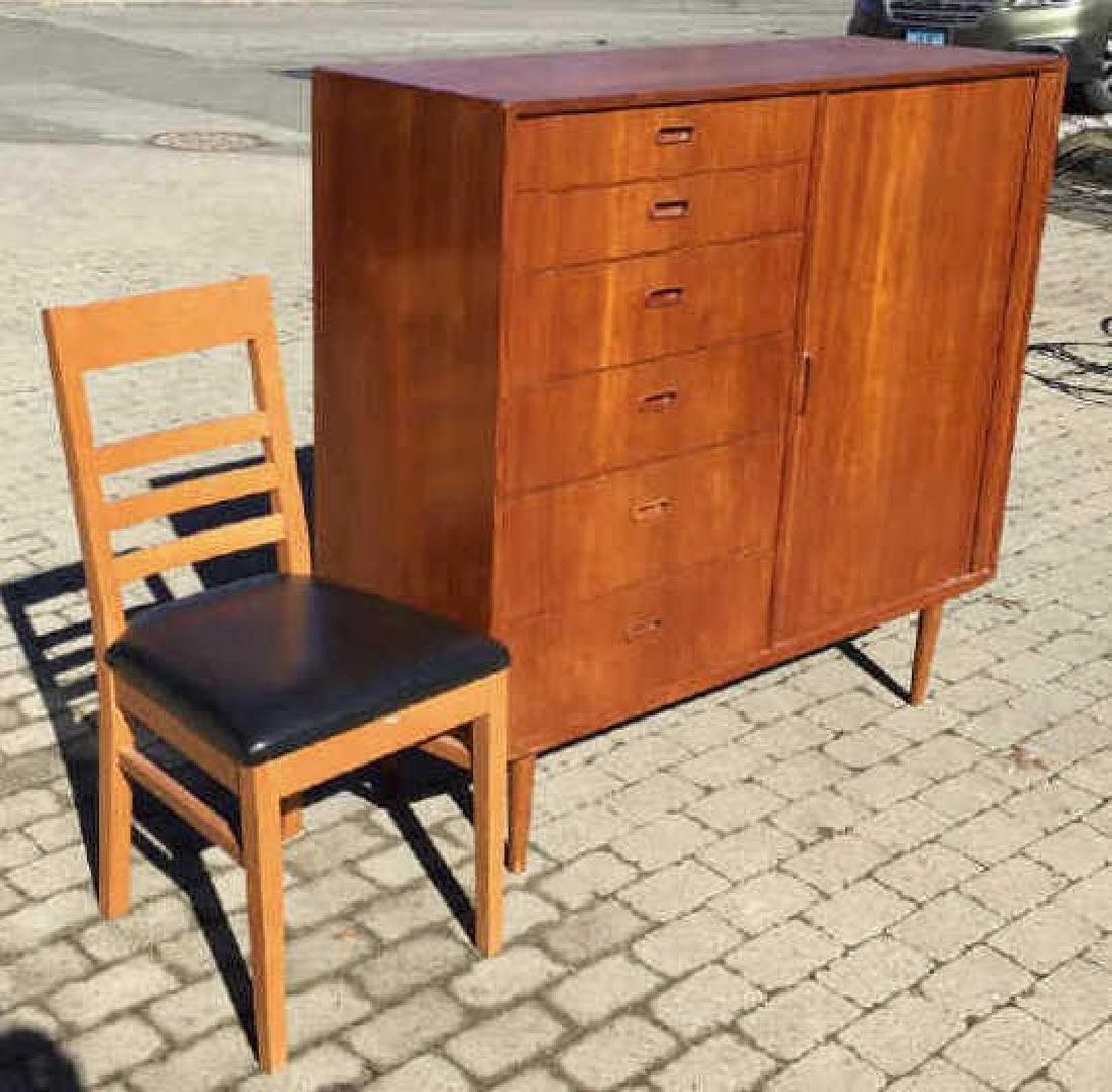 Mid Century Modern Chest of Drawers & Side Chair