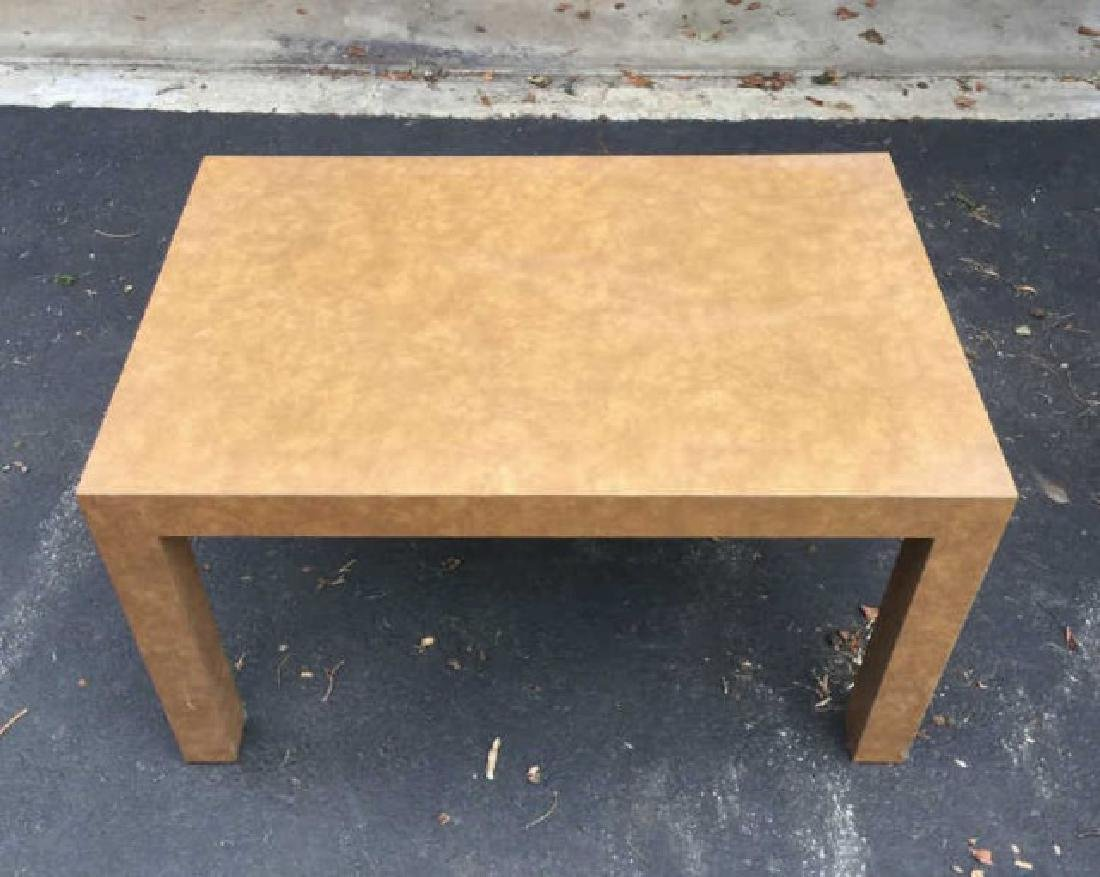 Pair of Contemporary Modern Parsons Coffee Tables