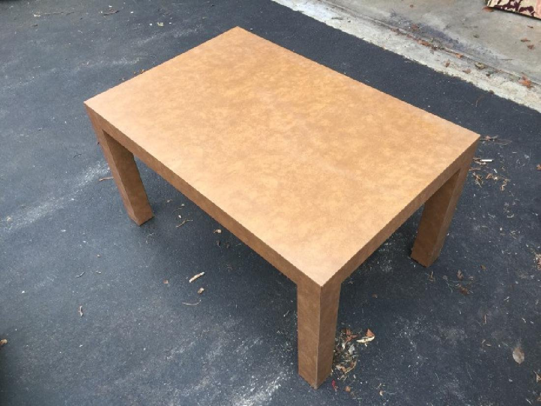 Pair of Contemporary Modern Parsons Coffee Tables - 2