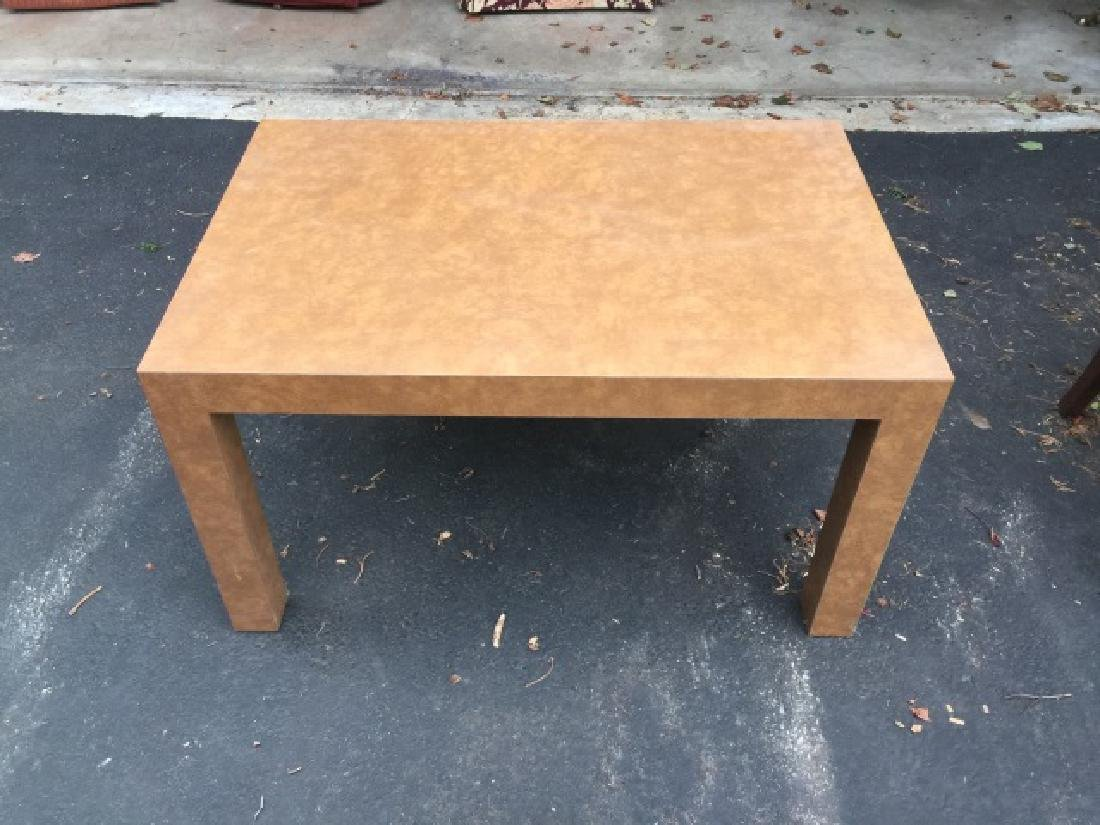 Pair of Contemporary Modern Parsons Coffee Tables - 3