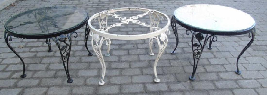 3 Metal & Glass Outdoor Tables for Patio / Deck