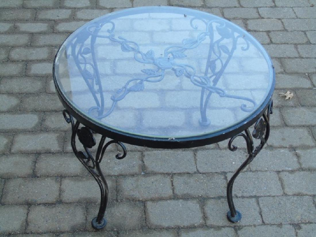 3 Metal & Glass Outdoor Tables for Patio / Deck - 3