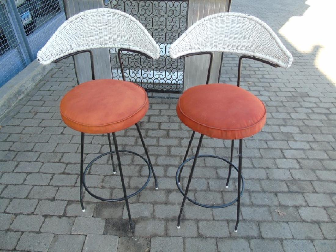 Vintage Outdoor Bar & Pair Stools for Patio / Deck - 4
